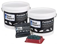 Formula 'B' Mouse Killer Poison 3kg, Pest Expert (Free Safety Gloves & 12 Bait Trays)